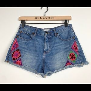 Free People | Colorful diamond embroidery Shorts